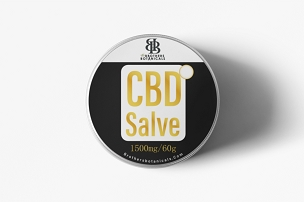 CBD SALVE- 1,500mg (60g) - Topical Muscle and Body Rub 0% THC